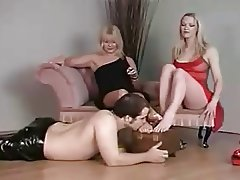 2 British Femdoms - Oral Shoeshine