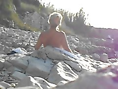 naked granny on the  beach next to me