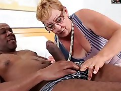 HAIRY GRANNY IN GLASSES GETS BBC