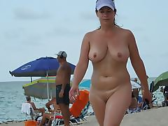 Hot girl with perfect tits nude beach