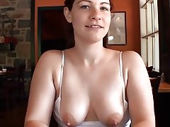 Tits out in the Cafe