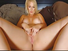Horny Blonde Holly Sanderson Solo Pussy Masturbation