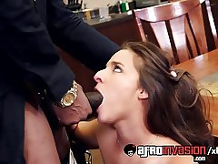 Amirah Adara working hard to earn her boss big black dick!