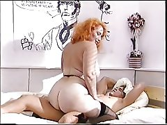 Big ass redhead mature fucks a young cock