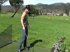 Kortney Olson Golf Swing