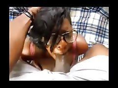 This Ebony Couple Does It Right - Great Dick sucking