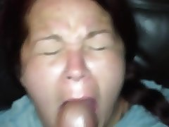 Cum Whore cock slapped on couch with huge messy facial - 2