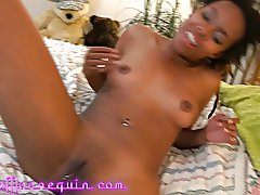 Stunning Ebony Teen Makes Cuckold BF Watch First BWC Fuck