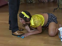 Humiliation of the slave girl.
