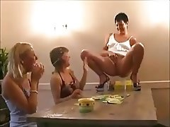 3 Young Ladies having a P-party
