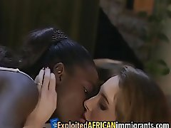 Hot anal interracial threesome with African babe
