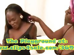 Black and knocked up lesbo action!Pre