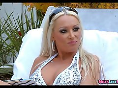 European Blonde MILF at the pool