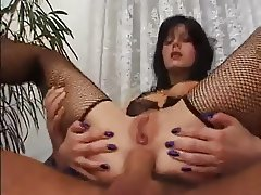 Girl takes two cocks