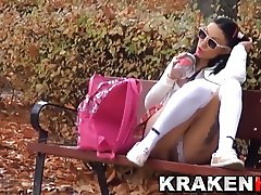 Krakenhot Voyeur video Young provocative schoolgirl outdoor