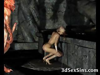 Evil Creatures Fuck 3D Elf Girls!