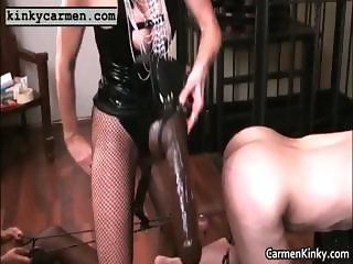 Big boobs Carmen fisting bondage part1
