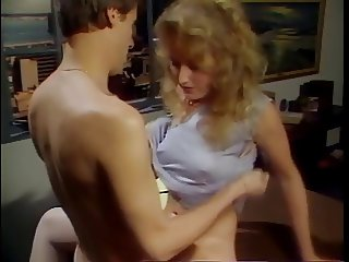 Blonde secretary fucked by boss on desk