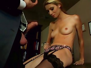 office slut crystal rae anal stockings