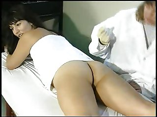 Aunt Gwen spanks and fingers Kara in medical office 2