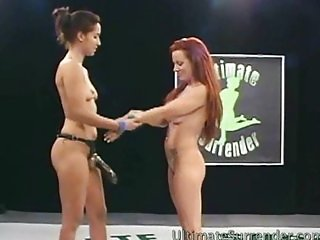 Bad ass babes battle to fuck