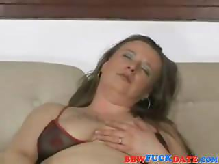 Brunette housewife with hairy snatch gets and gives head and gets ass nailed
