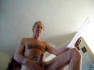 a guy wanking hard must spurt some cum
