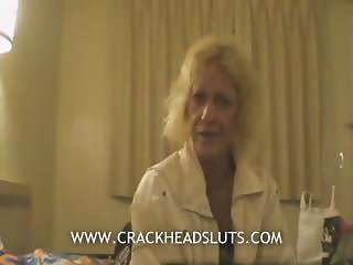 Blonde granny crackhead blowjob in a nasty sexual documentary