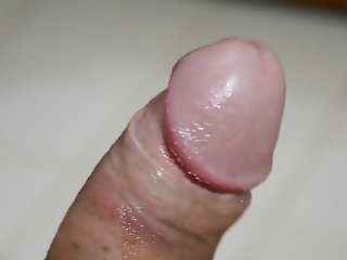 Close up of my hard dick precum