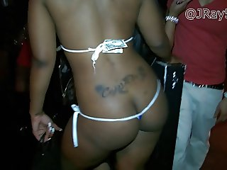 Ebony Lap Dance in Loose Thong -=JRay513=- Hidden Cam