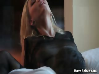 Sexy blonde babe rides an hard cock part3
