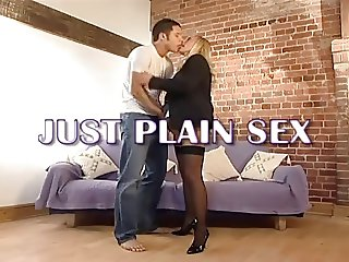 blonde with big tits fucks and gets a facial