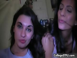 Cute college girls love playing naughty part2