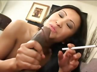 Asian chick having brutal penis in mouth