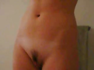 Young girl in shower on webcam