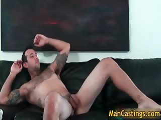 Nasty tattooed guy Johnny gets fucked part5