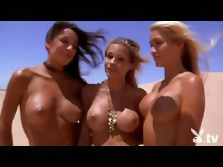 Hot Naked Chicks Sand Boarding!