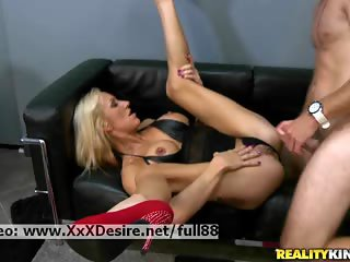 Zoey Portland _ Sexy blonde licked and fucked on the couch