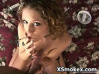 Horny Ass Girl Smoking Sex