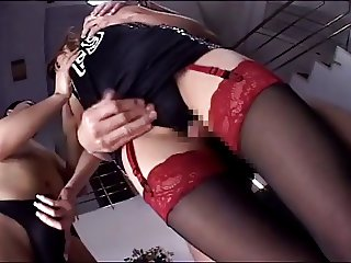 censored asian intercrural sex (stockings and panty)