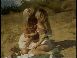Unstoppable lesbian bitches in outdoor boob sucking and tongue fucking action