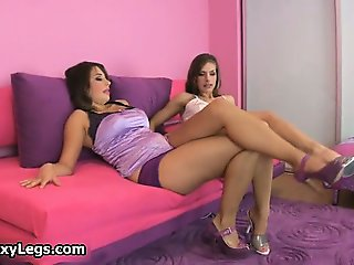 Two sexy girls shows amazing body part6