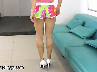 Horny teen shows perfect body  part4
