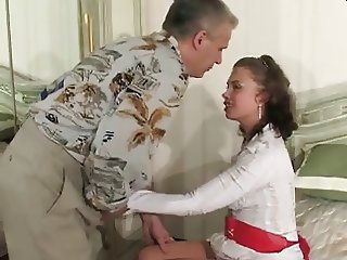 Aroused Russian Girl Seduced By Older Man