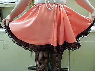 Sissy Ray in Satin Maid uniform