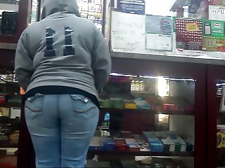 Candid Whooty Wedgie Jeans