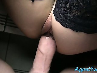 Lusty amateur Celine drilled for money