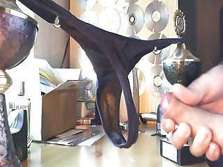 cum on dirty thong panty