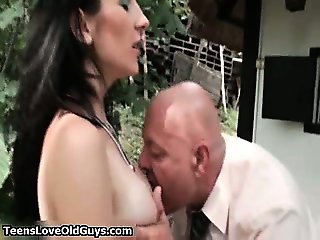 horny chick had fucked hard in the part4