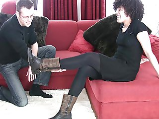Footjob with socks